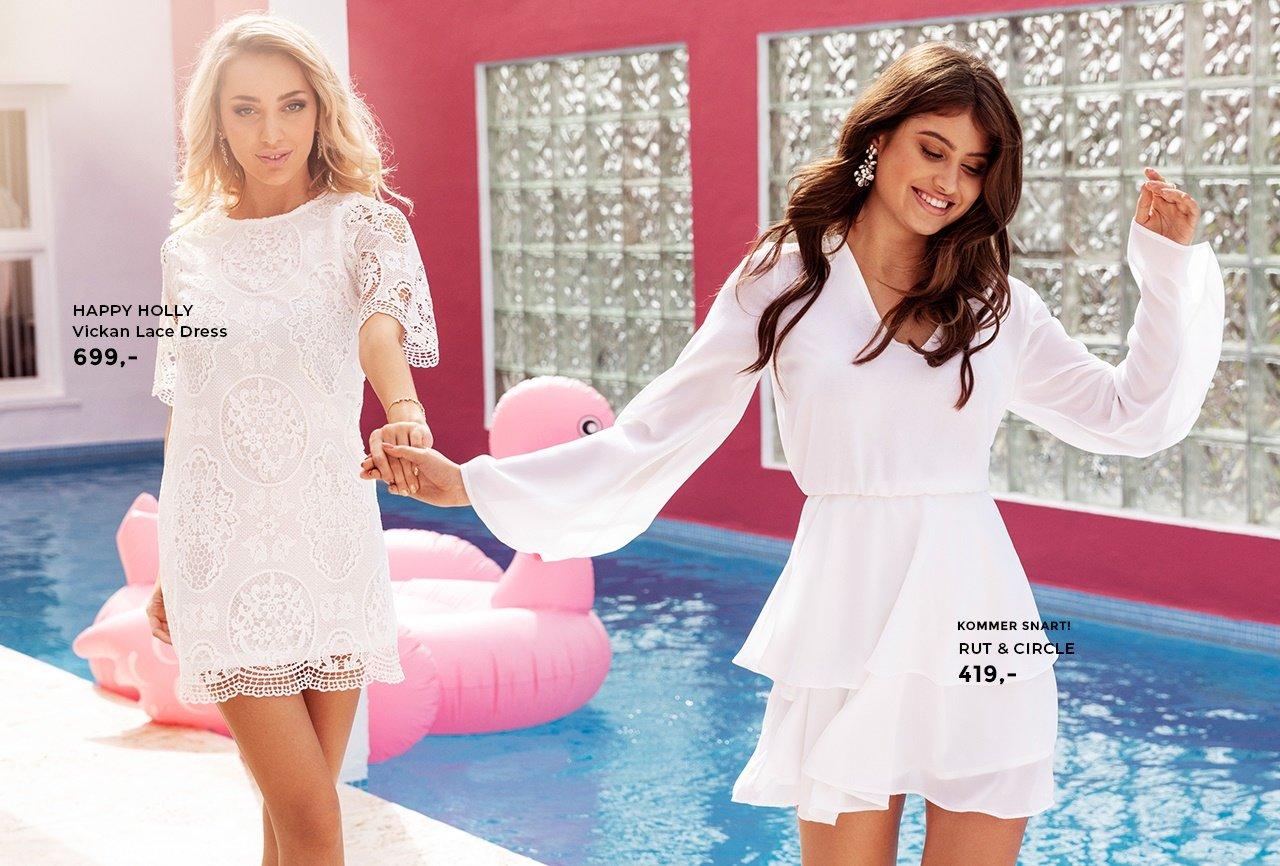 hvite kjoler i mange utgaver og modeller