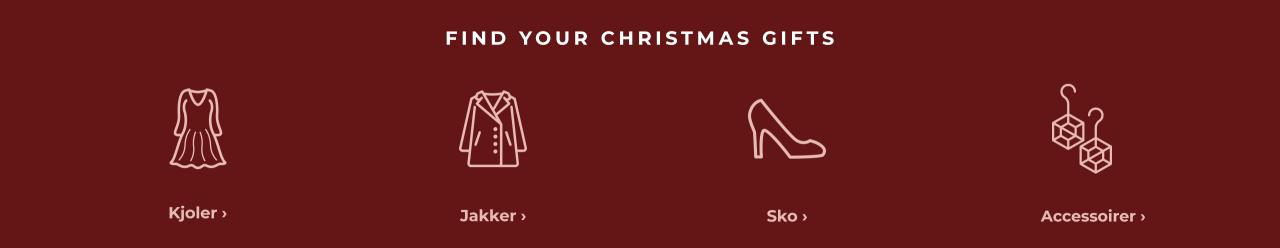 Find your christmas gift - Shop kjoler, jakker, sko & accessoirer her.