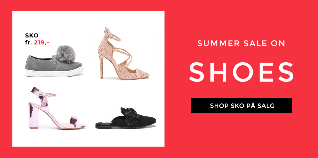 sko på salget