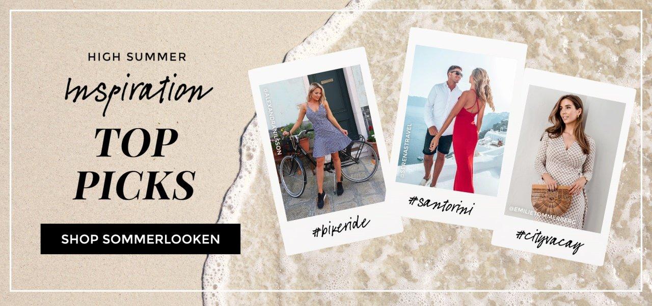 shop sommerlooken - kjoler, topper og bikinis