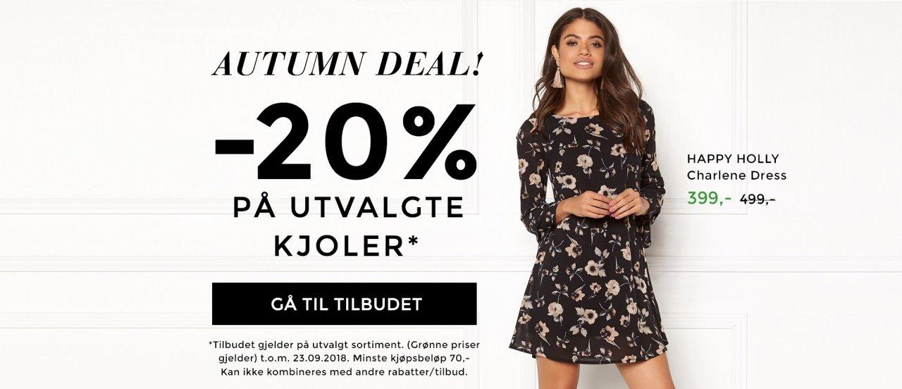 20% på utvalgte kjoler