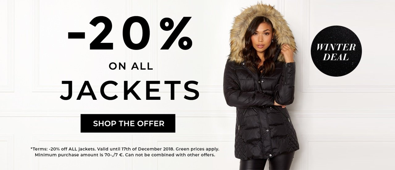 -20% on all jackets