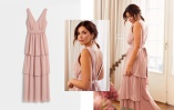 Nicole Falciani Frill Gown - dusty pink