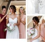 Anna mesh gown, Athena Chiffon gown Zaria flower top og skirt
