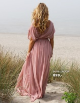 Aubrey Gown Dusty Pink lang kjole