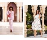 Trendy jakke i rosa og plissert skjørter