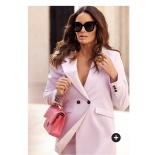 Carolina Gynning Blazer i rosa og svart