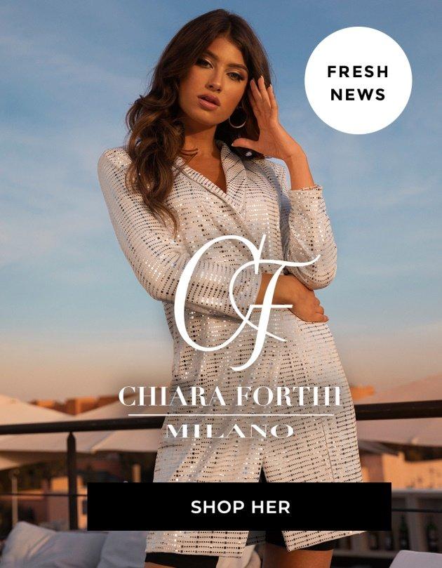 6dc77ce26014 Kjoler · Topper · Nyheter · Bukser · Shop Chiara Forthi