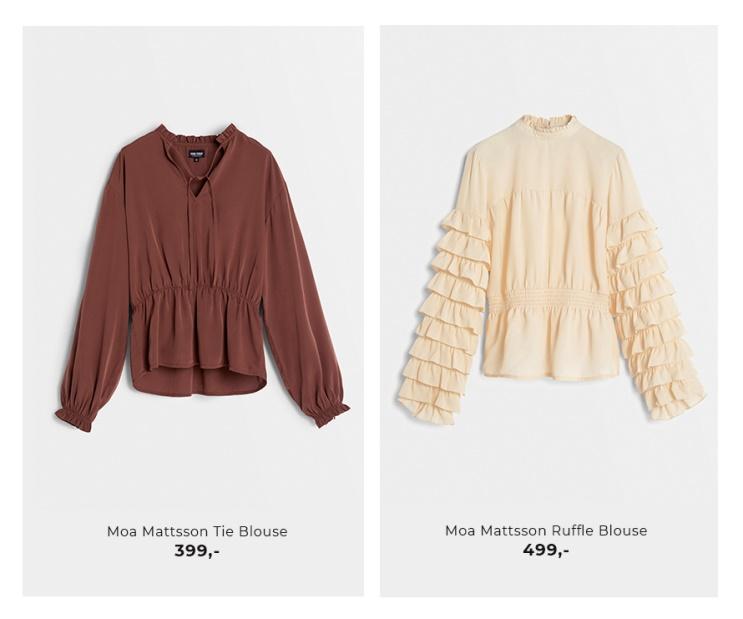 Moa Mattsson X Bubbleroom - Shoppa bluser
