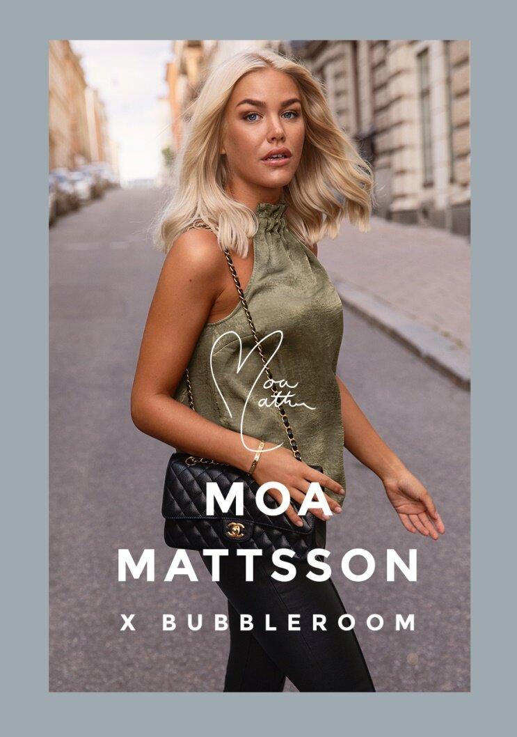 Tillsammans med influencern @moamattsson har vi skapat en kollektion som alla vill ha för ett perfekt dag- till nattliv. Toppa din feminina sida med kostymset, good to go-toppar och tajta kjolar som passar för alla dina planer