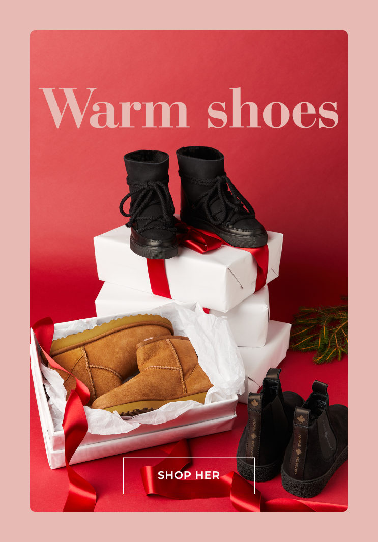Warm shoes for winter - Shop her