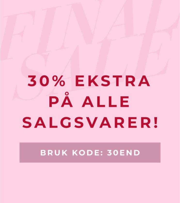 Siste sjansen! 30% ekstra på alle salgsvarer - Shop her