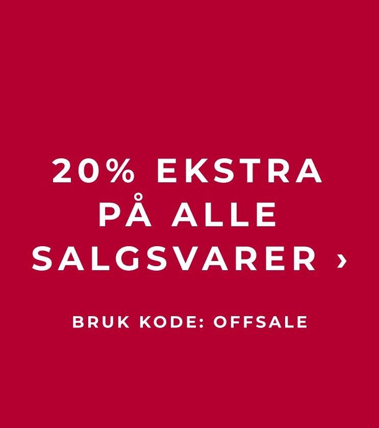 20% ekstra på alle salgsvarer - Shop her