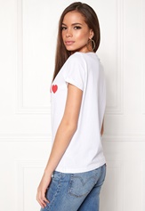 Sisters Point Herm-SS5 T-shirts White scarlet