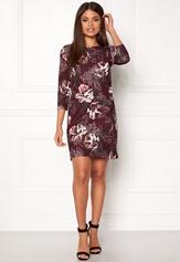 AX Paris High Neck Lace Midi Dress Wine