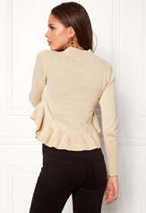 BUBBLEROOM Livia knitted sweater Beige