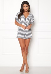 BUBBLEROOM Piper playsuit White / Blue / Striped