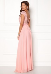 Chiara Forthi Viviere Sparkling Gown Pink