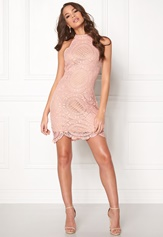 Girl In Mind Amber Lace Mini Dress Pink