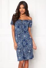 Happy Holly Tessan dress Medium blue / Paisley