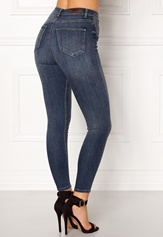 ONLY Posh HW Cropped Jeans Dark Blue Denim