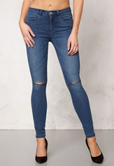 ONLY Royal Kneecut Jeans Medium Blue Denim Bubbleroom.no