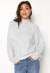 VILA Cant L/S Knit Top Light Grey Melange Bubbleroom.no