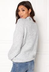 VILA Cant L/S Knit Top Light Grey Melange