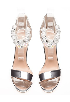Glossy Sandaletter, Candy Silver Bubbleroom.no