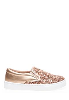 Glossy Slip-On Sneakers, Lotta Guld Bubbleroom.no