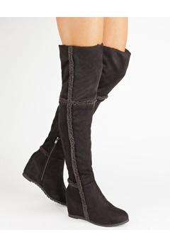 Have2have Overknee støvler, Husky Svart Bubbleroom.no
