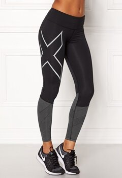 2XU Mid-Rise Reflect Tights Black/silver Bubbleroom.no