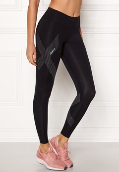 2XU Mid Rise Tights BLK/DRF Bubbleroom.no
