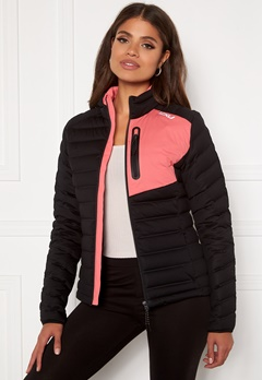 2XU Pursuit Insulation Jacket BLK/PLT Black/Pink L Bubbleroom.no