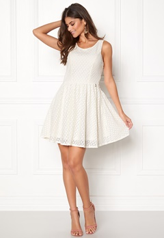 ONLY Line fairy lace dress Whisper White Bubbleroom.no