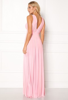 Goddiva Pleated Oscar Dress Pink Bubbleroom.no
