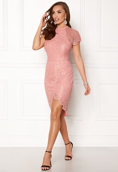 Girl In Mind Francis Lace Dress Mauve Bubbleroom.no