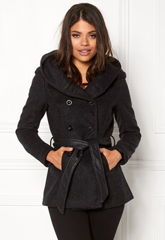 ONLY Mary Lisa short wool coat Black Bubbleroom.no
