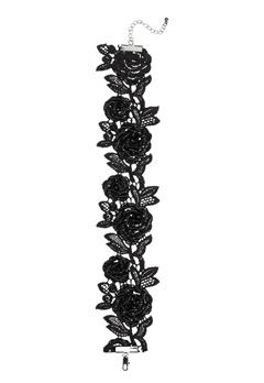 Pieces Rosille Choker Black Bubbleroom.no