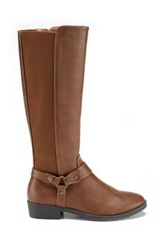 New Look Diandra PU Knee High Shoes Tan Bubbleroom.no