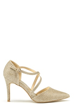 New Look Shimmer Cross Strap Heel Gold Bubbleroom.no