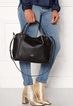 COACH Edie Leather Bag LIBLK Black Bubbleroom.no