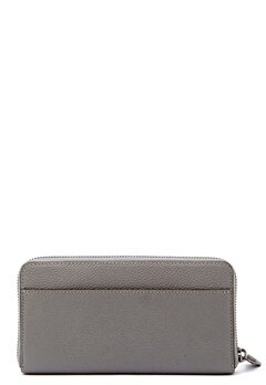 COACH Cordion Zip Around Wallet DKHGR Heather Grey Bubbleroom.no