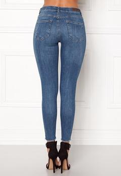 Pieces Five Delly B185 MW Jeans Medium Blue Denim Bubbleroom.no