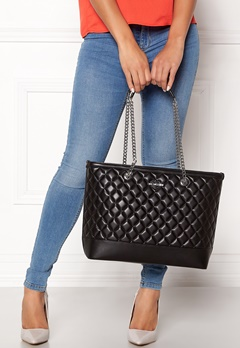 Love Moschino Bag With Chain 00A Black/Silver Bubbleroom.no