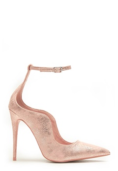 LOST INK Palm Curved Ankle Strap Rose Gold Bubbleroom.no