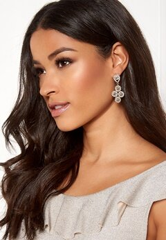 SNÖ of Sweden Swire Big Earrings Gold/Clear Bubbleroom.no