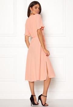 New Look Ram Tie Wrap Maxi Dress Shell Pink Bubbleroom.no