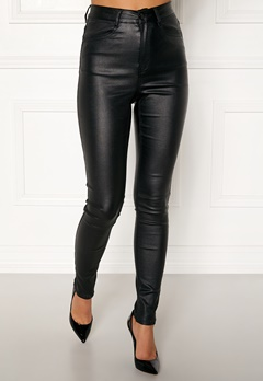 77thFLEA Bianca coated jeans Black Bubbleroom.no