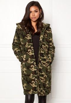 77thFLEA Claire teddy jacket Camouflage Bubbleroom.no